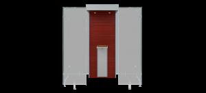 Mahogany and Grey - Semi Open Modular Smoke Cabin