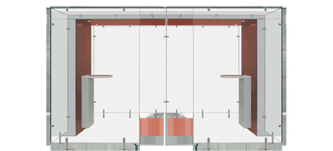 Mahogany and Grey Modular Smoking Area
